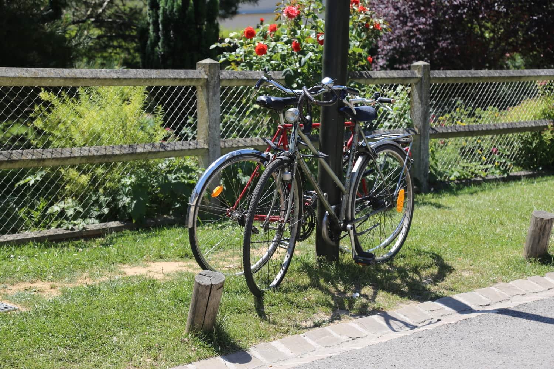 Arrivée à Giverny en vélo