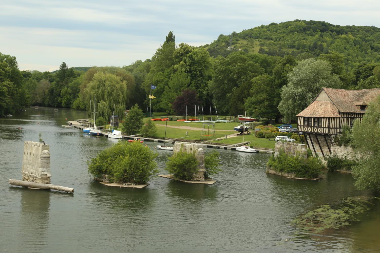 Vernon - Vue Seine et Vieux Moulin